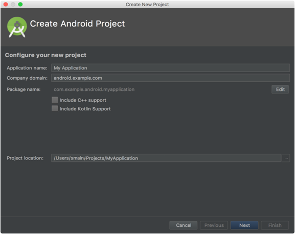 configure kotlin project for android